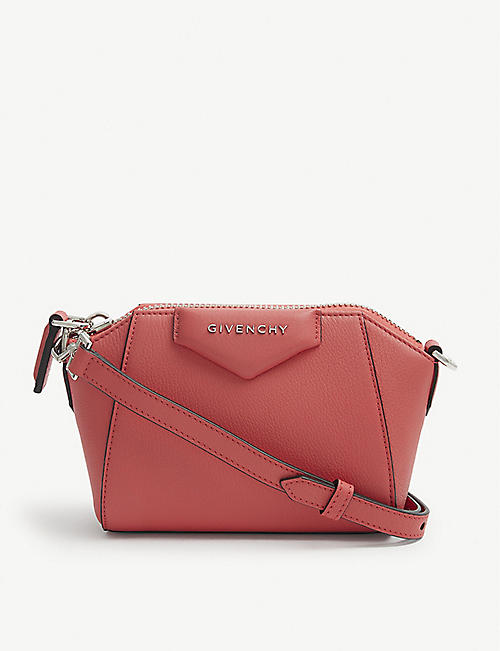 GIVENCHY: Antigona nano leather shoulder bag