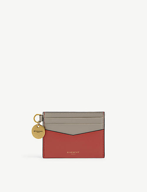 GIVENCHY: Logo-embellished leather card holder