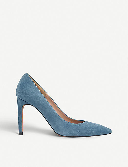 WHISTLES: Cornel pointed suede courts