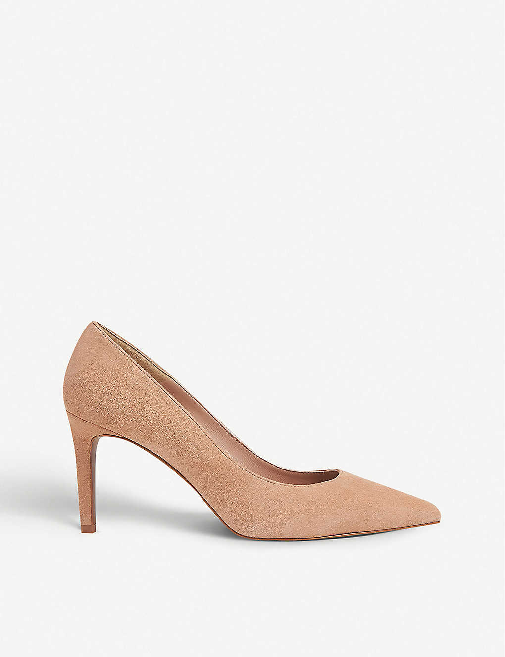 WHISTLES: Cari pointed suede courts