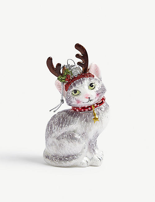 CHRISTMAS: Noble gems cat bauble