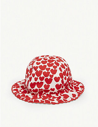 STELLA MCCARTNEY: Kids heart-print organic cotton hat