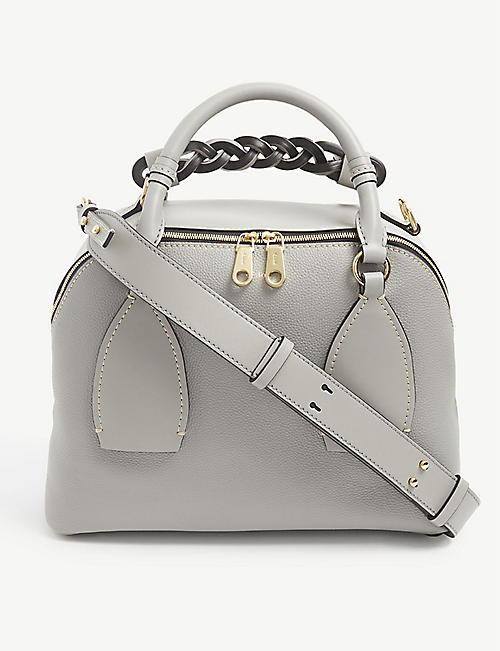 CHLOE: Daria medium leather cross-body bag