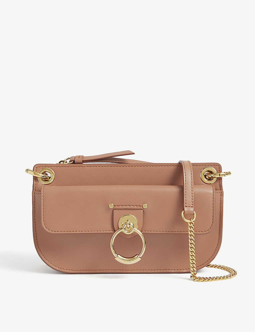 CHLOE: Tess leather wallet-on-chain