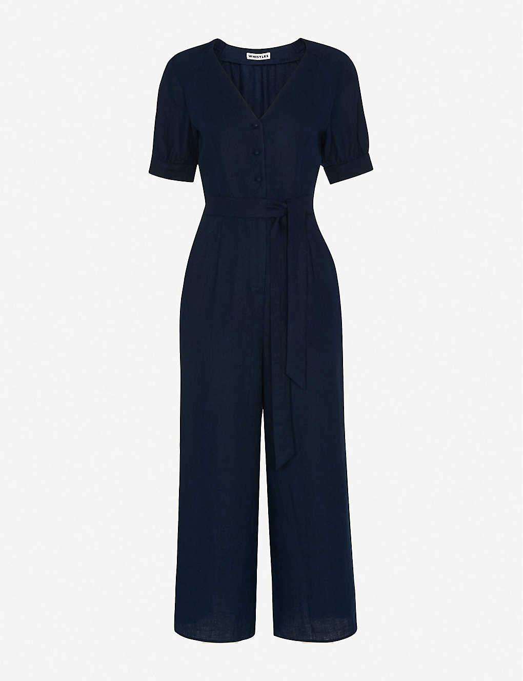 WHISTLES: Nora cropped linen jumpsuit