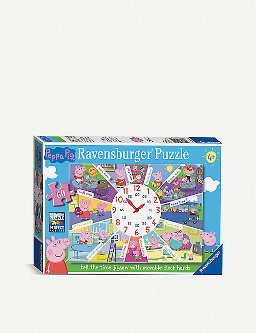 PUZZLES: Ravensburger Peppa Pig Tell The Time 60-piece puzzle