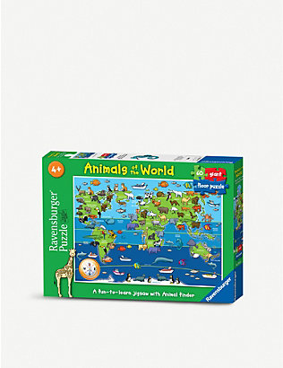 PUZZLES: Animals of the World floor puzzle 60 pieces