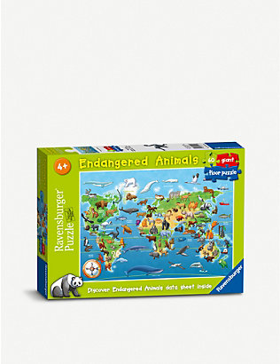 PUZZLES: Endangered Animals floor puzzle 60 pieces