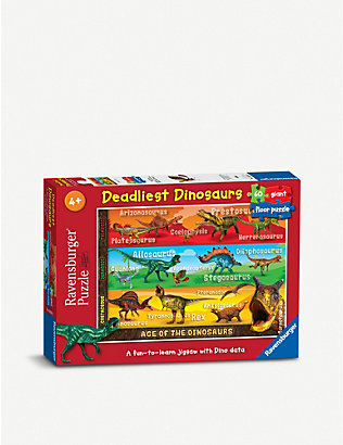 PUZZLES: Deadliest Dinosaurs floor puzzle 60 pieces