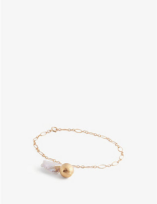 ALIGHIERI: The Moon Fever 24ct gold-plated bronze and freshwater pearl bracelet