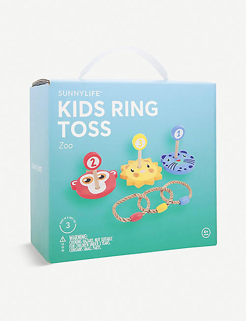 SUNNYLIFE: Zoo Ring Toss wooden game