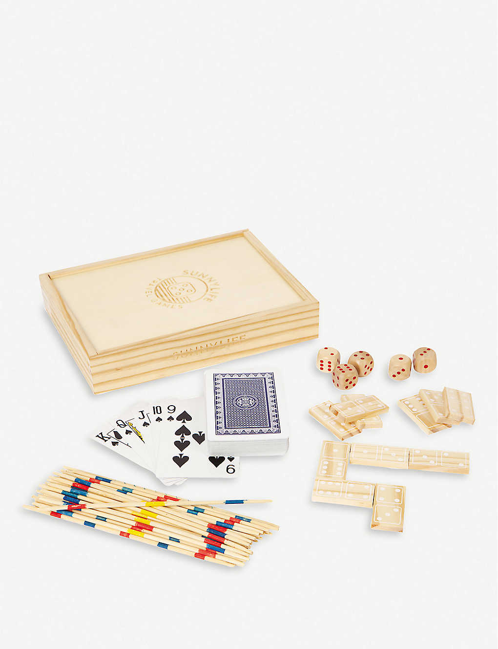SUNNYLIFE: Malibu Travel 4-in-1 wooden and PVC game set