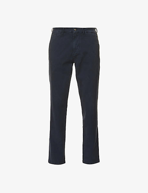 7 FOR ALL MANKIND: Slimmy Luxe straight cotton-blend trousers