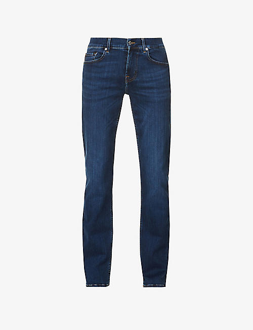 7 FOR ALL MANKIND: Standard regular-fit jeans