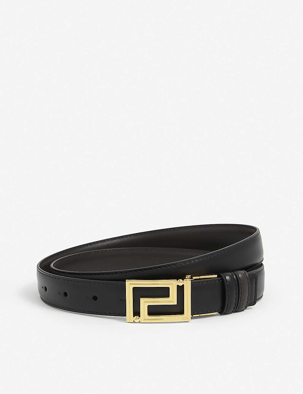 VERSACE: Leather belt