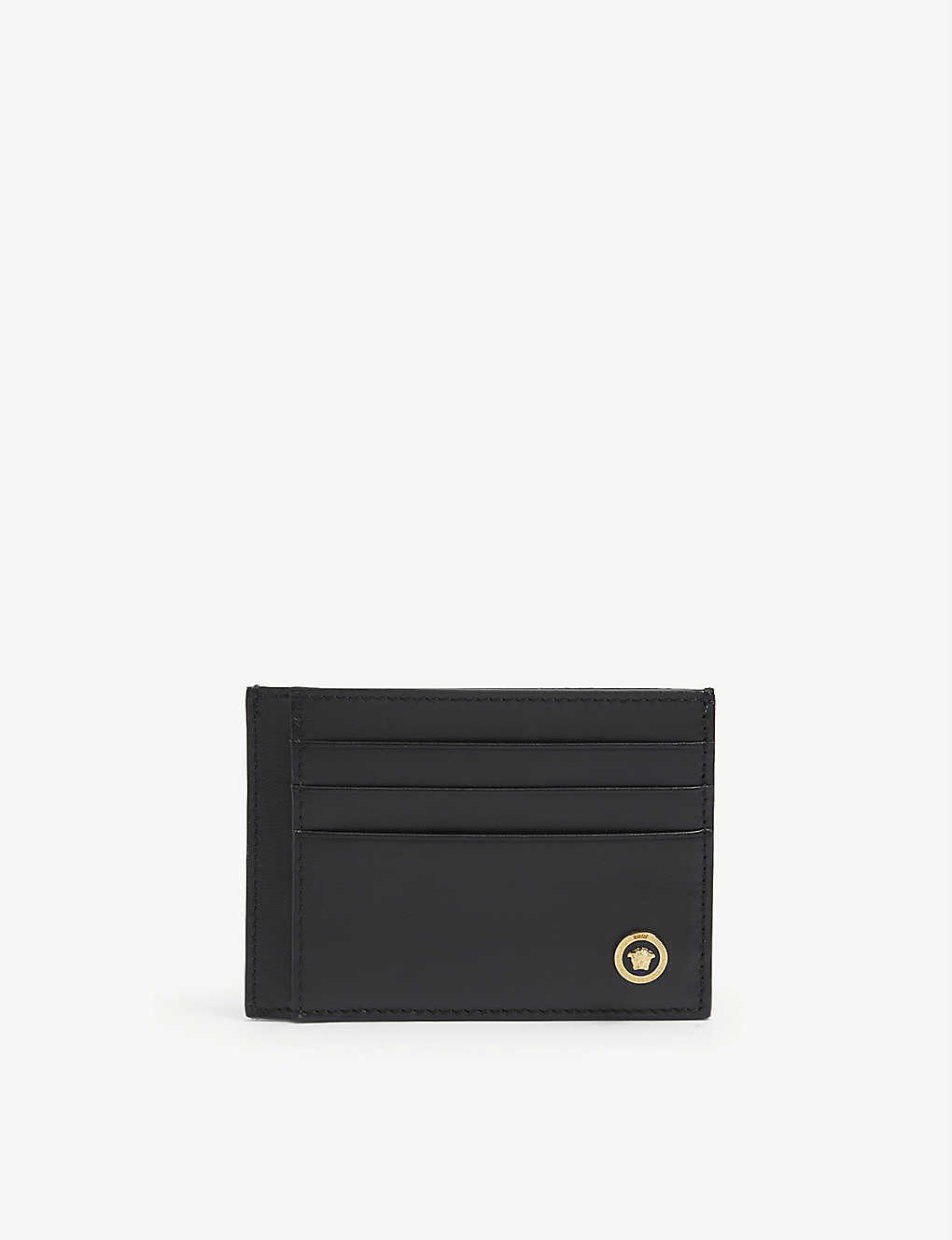 VERSACE: Medusa head leather cardholder