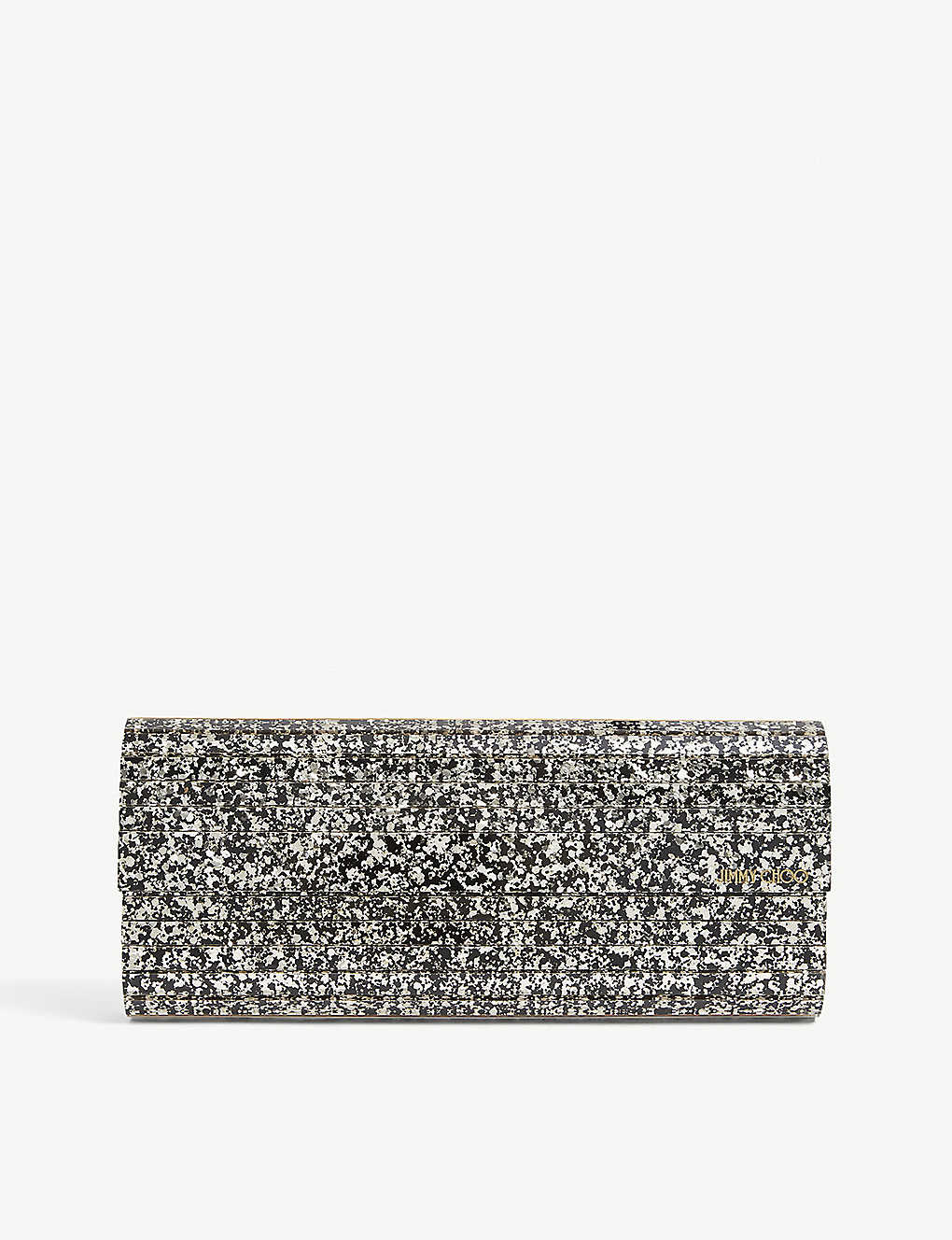 JIMMY CHOO: Sweetie coarse glitter acrylic clutch