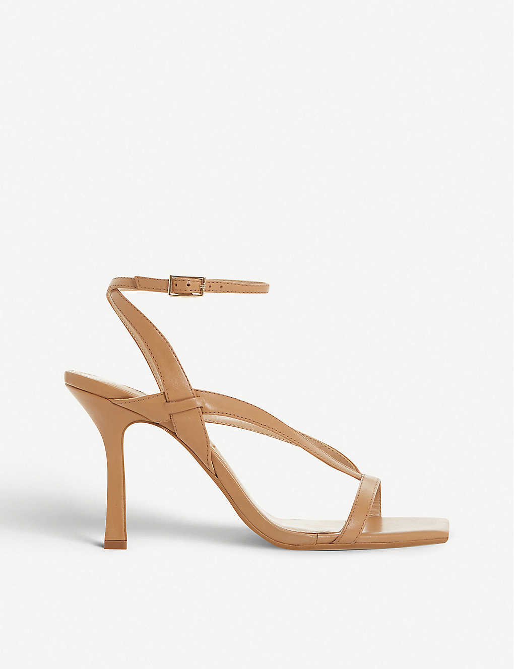 Monterey square toe leather heeled sandals
