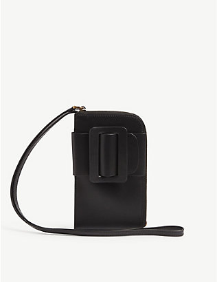BOYY: Buckle leather crossbody phone case