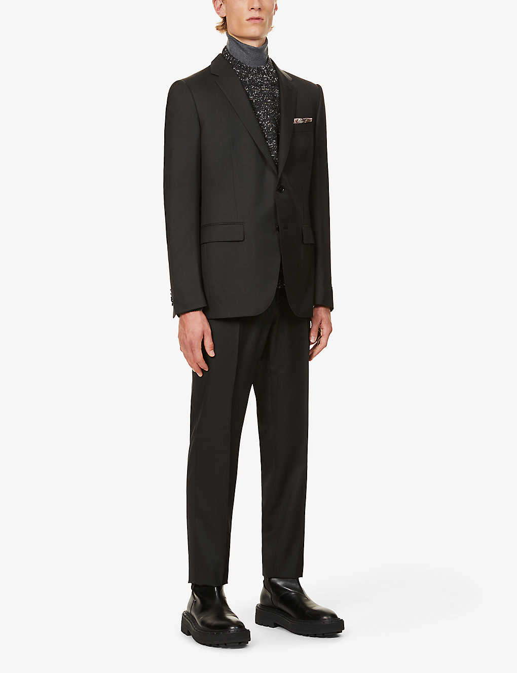 ERMENEGILDO ZEGNA: Single-breasted wool and silk-blend suit