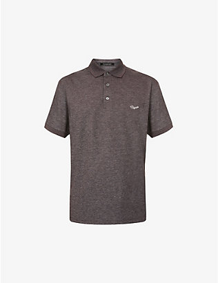 ERMENEGILDO ZEGNA: Logo-embroidered cotton polo shirt