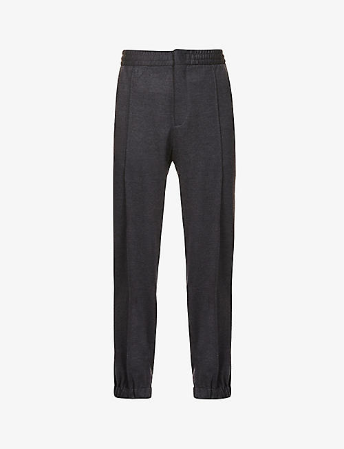 ERMENEGILDO ZEGNA: Tapered wool trousers