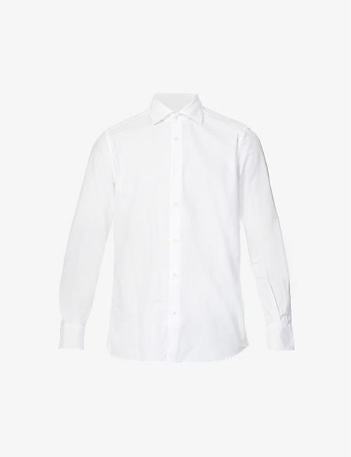 SLOWEAR: Regular-fit cotton-piqué shirt