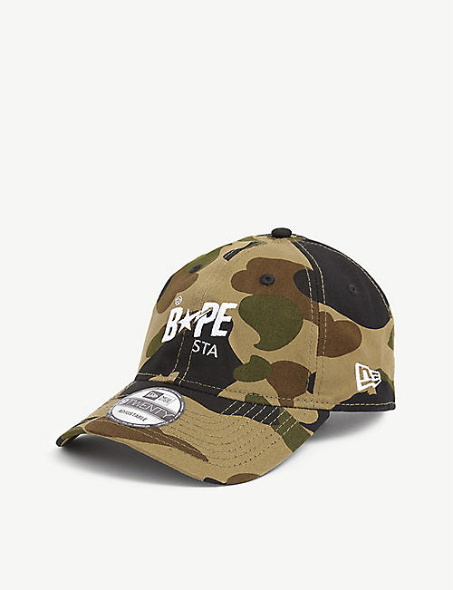 A BATHING APE: BAPE STA 9TWENTY camouflage-print cotton baseball cap