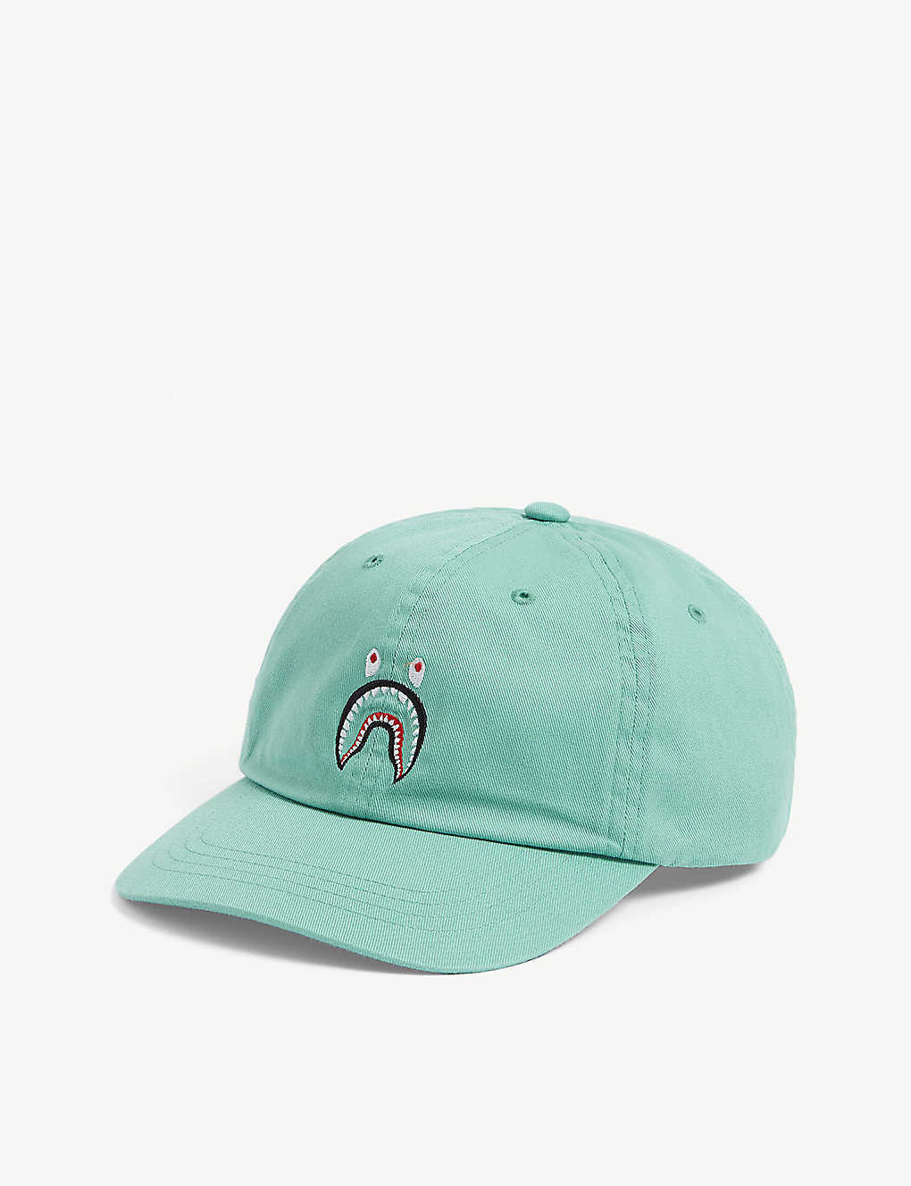 A BATHING APE: Shark-embroidered cotton cap