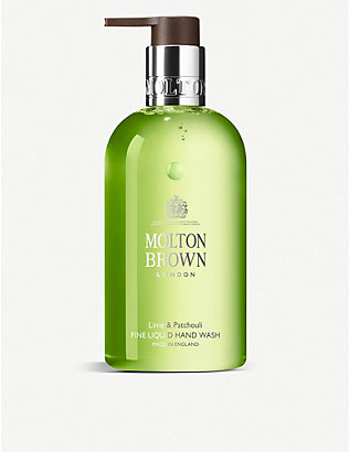 MOLTON BROWN: Lime & Patchouli liquid hand wash 300ml