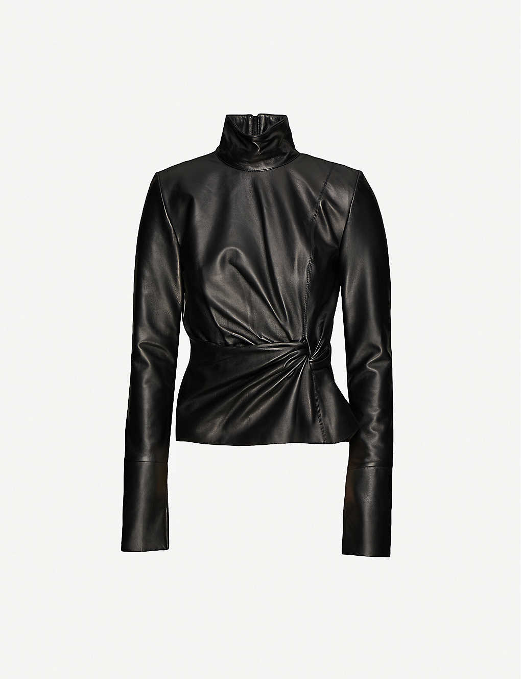 16 ARLINGTON: Yukie high-neck leather top