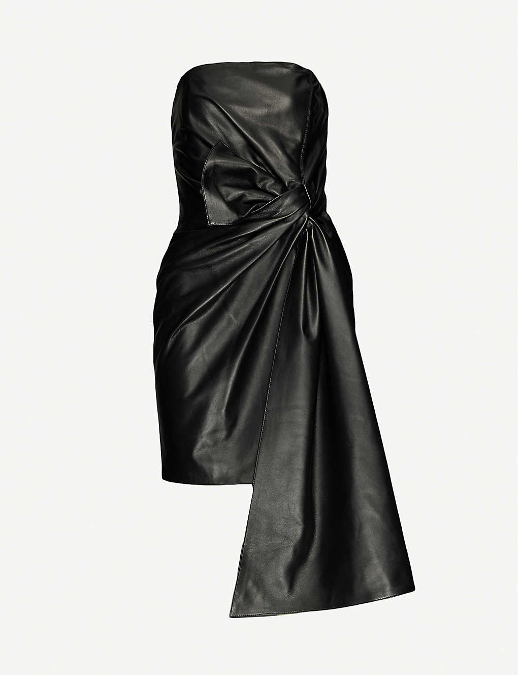 16 ARLINGTON: Matsuko strapless leather mini dress