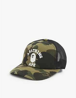 A BATHING APE: College camouflage-print baseball cap