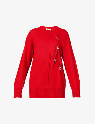 ACT N1: Chain-embellished wool jumper