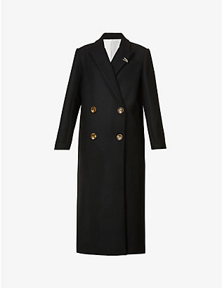 ACT N1: Double-breasted wool-blend coat