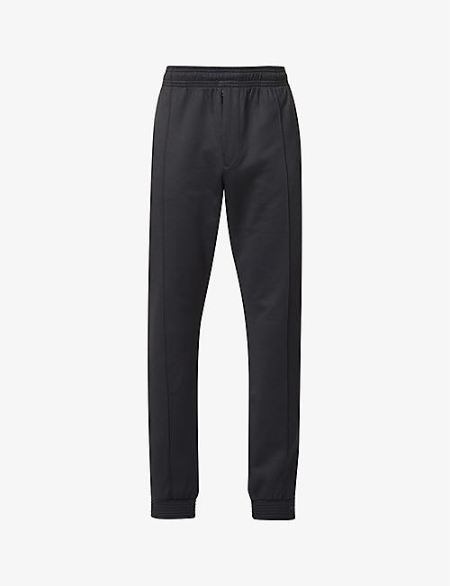 KENZO: Logo-patch tapered cotton-blend jogging bottoms