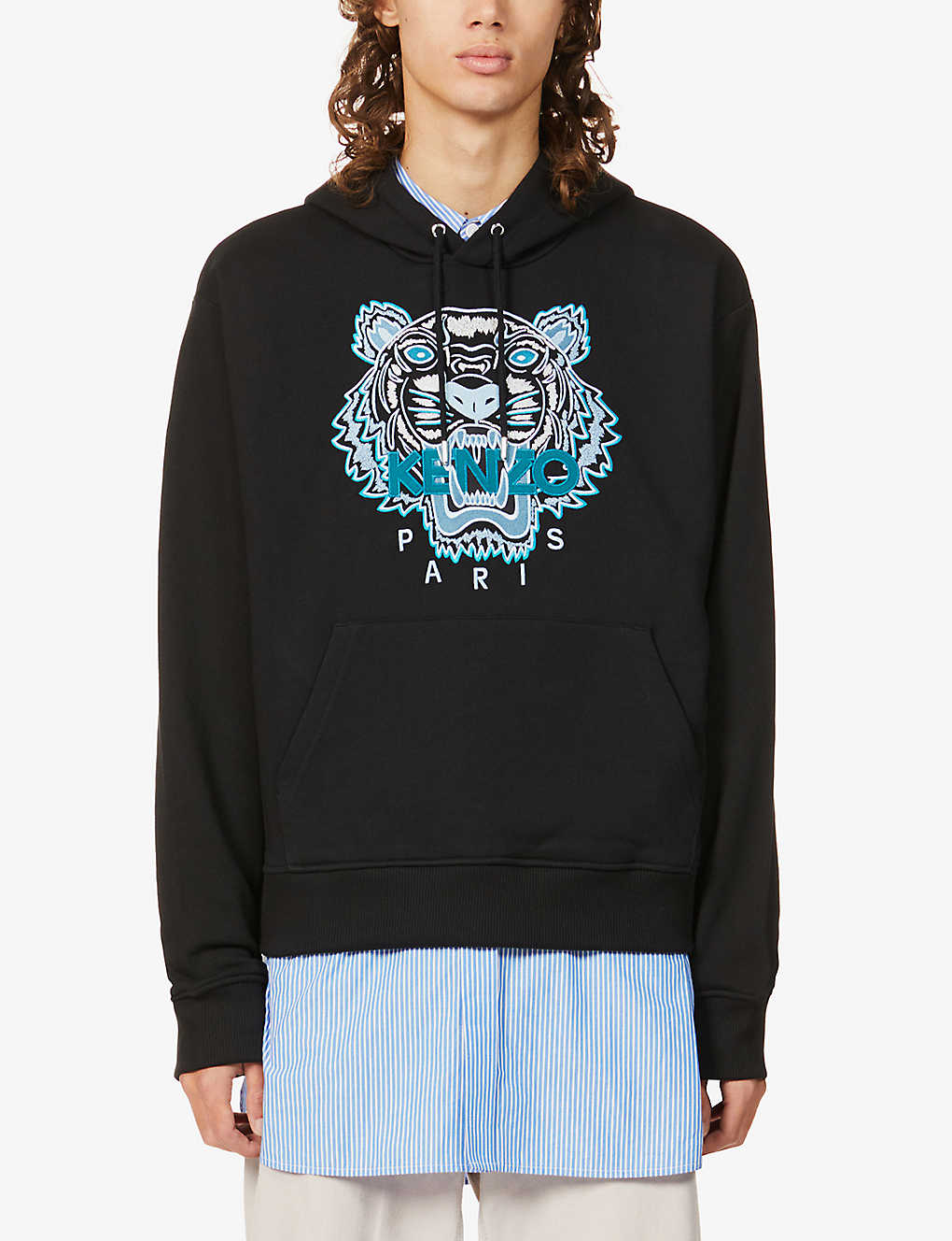 KENZO: Tiger relaxed-fit cotton-jersey hoody