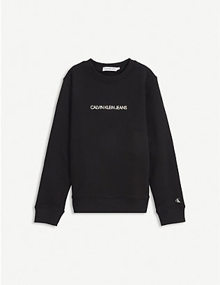 CALVIN KLEIN JEANS: Logo-print cotton sweatshirt 4-16 years