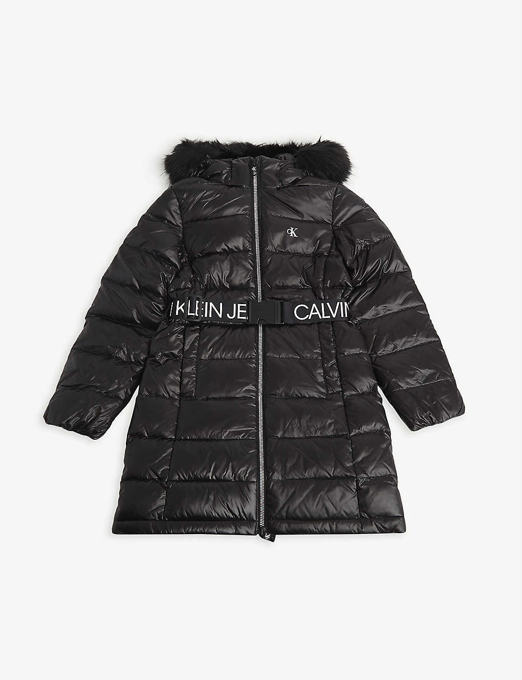 CALVIN KLEIN JEANS: Faux-fur nylon padded coat 4-16 years