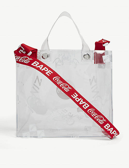 A BATHING APE: A Bathing Ape x Coca-Cola branded tote bag