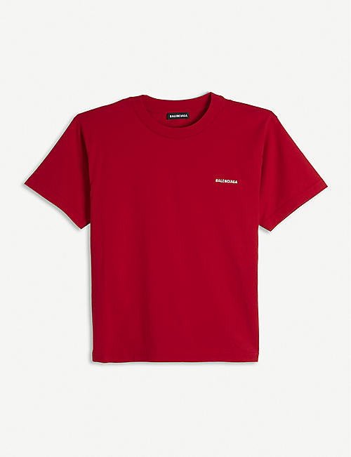 BALENCIAGA: Logo print cotton T-shirt 4-10 years