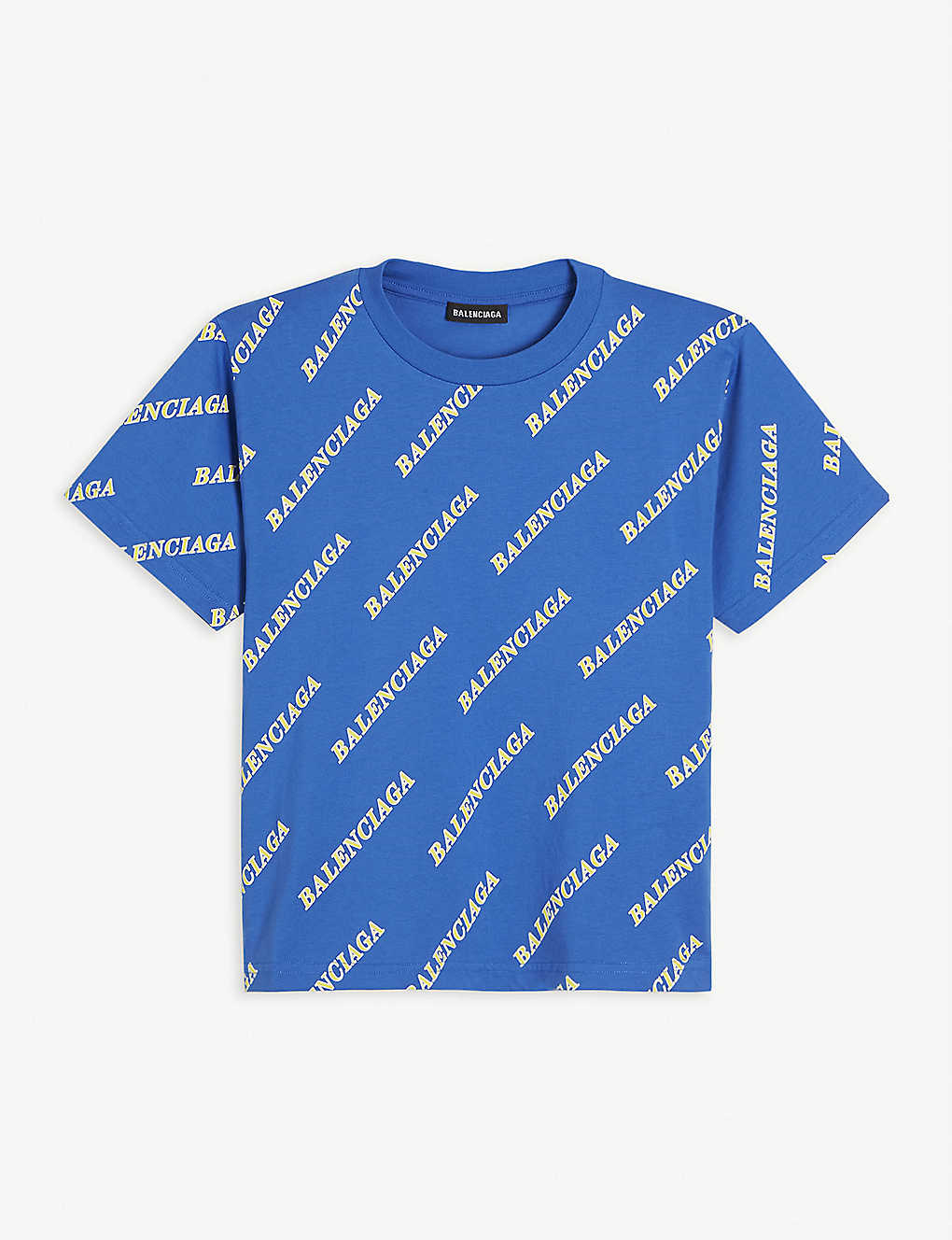 BALENCIAGA: Logo-print cotton T-shirt 4-10 years