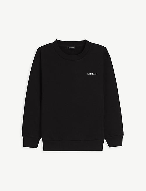 BALENCIAGA: Logo-print cotton sweatshirt 4-10 years