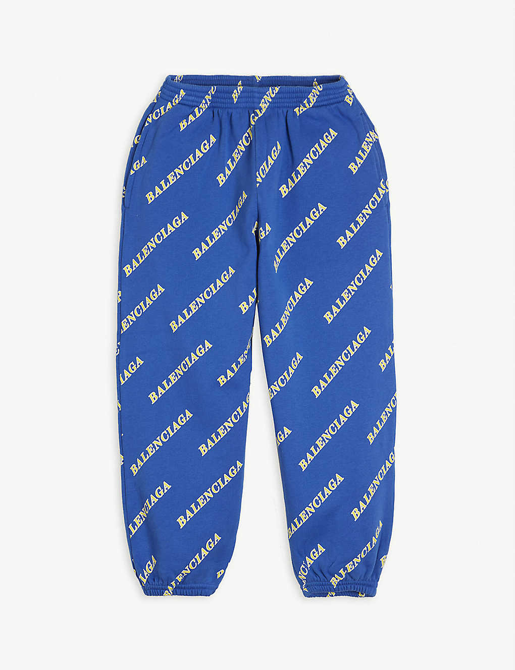 BALENCIAGA: Logo-print cotton jogging bottoms 4-10 years