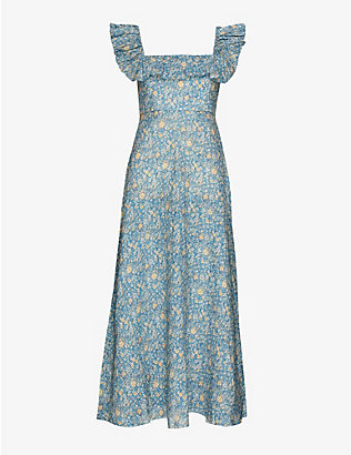 ZIMMERMANN: Carnaby floral-print linen maxi dress