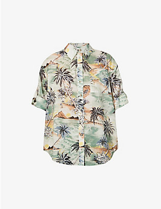 ZIMMERMANN: Juliette relaxed-fit graphic-print cotton shirt