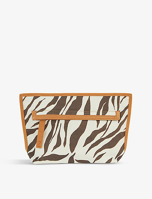 ZIMMERMANN: Snakeskin-printed canvas pouch