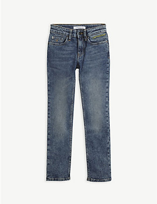 CALVIN KLEIN JEANS: Slim logo pocket stretch-denim jeans 4-16 years