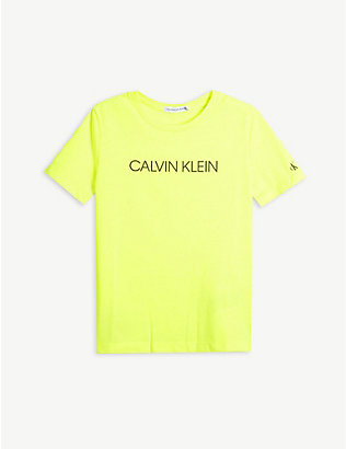 CALVIN KLEIN JEANS: Brand-print jersey T-shirt 4-16 years