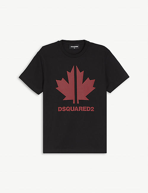 DSQUARED2: Maple Leaf print cotton T-shirt 4-16 years